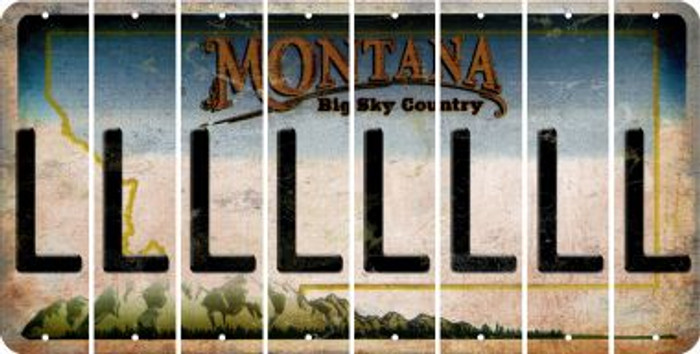 Montana L Cut License Plate Strips (Set of 8) LPS-MT1-012