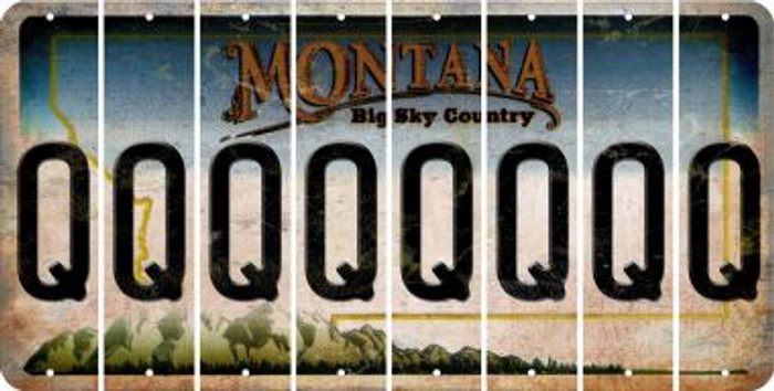 Montana Q Cut License Plate Strips (Set of 8) LPS-MT1-017
