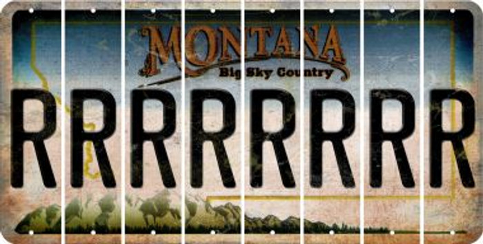 Montana R Cut License Plate Strips (Set of 8) LPS-MT1-018