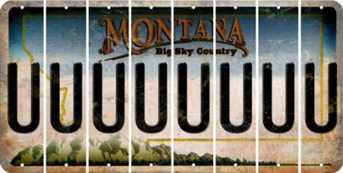 Montana U Cut License Plate Strips (Set of 8) LPS-MT1-021