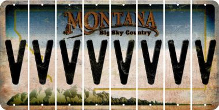 Montana V Cut License Plate Strips (Set of 8) LPS-MT1-022