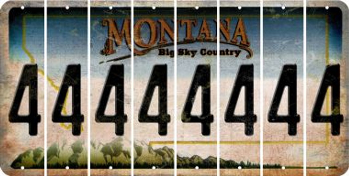 Montana 4 Cut License Plate Strips (Set of 8) LPS-MT1-031
