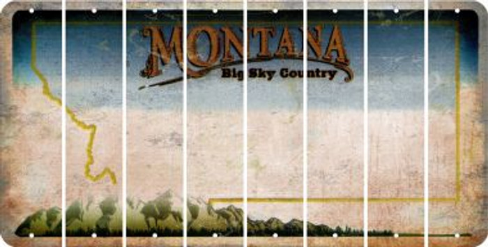 Montana BLANK Cut License Plate Strips (Set of 8) LPS-MT1-037