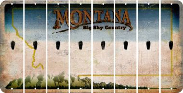 Montana APOSTROPHE Cut License Plate Strips (Set of 8) LPS-MT1-038