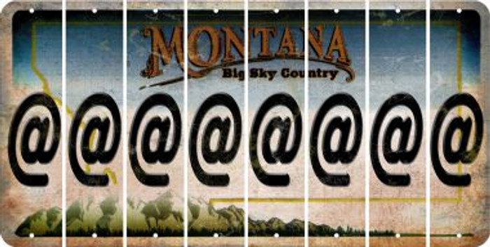 Montana ASPERAND Cut License Plate Strips (Set of 8) LPS-MT1-039