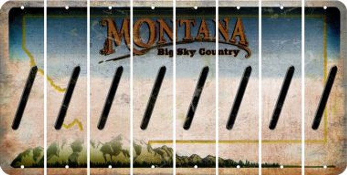 Montana FORWARD SLASH Cut License Plate Strips (Set of 8) LPS-MT1-042