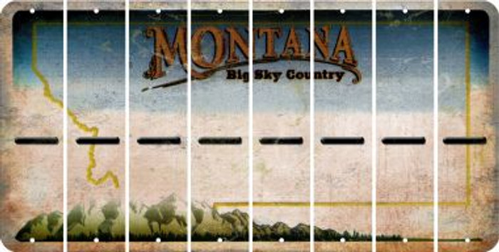 Montana HYPHEN Cut License Plate Strips (Set of 8) LPS-MT1-044
