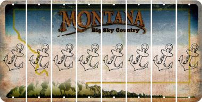 Montana ANCHOR Cut License Plate Strips (Set of 8) LPS-MT1-093