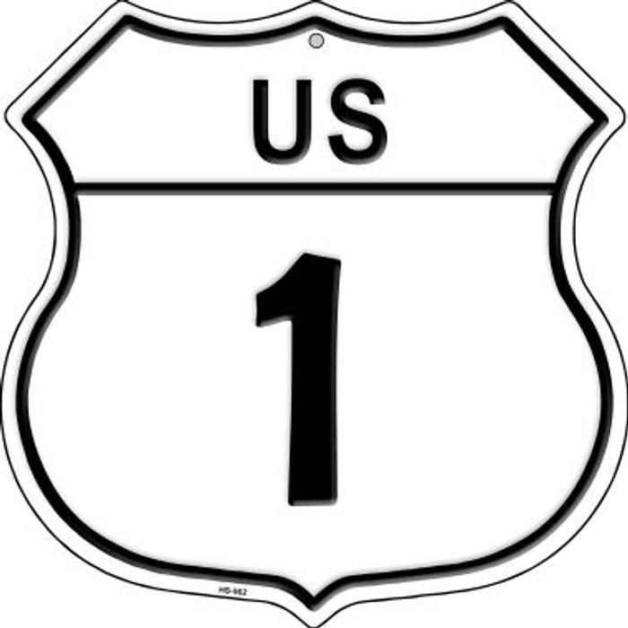 US Highway 1 Wholesale Novelty Highway Shield HS-562