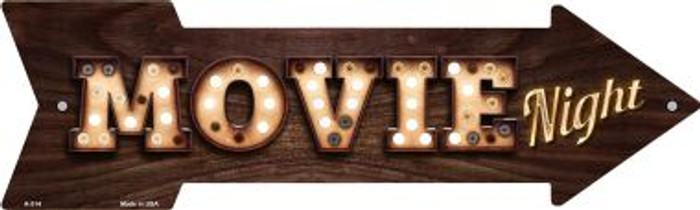 Movie Night Bulb Letters Wholesale Novelty Arrow Sign A-514