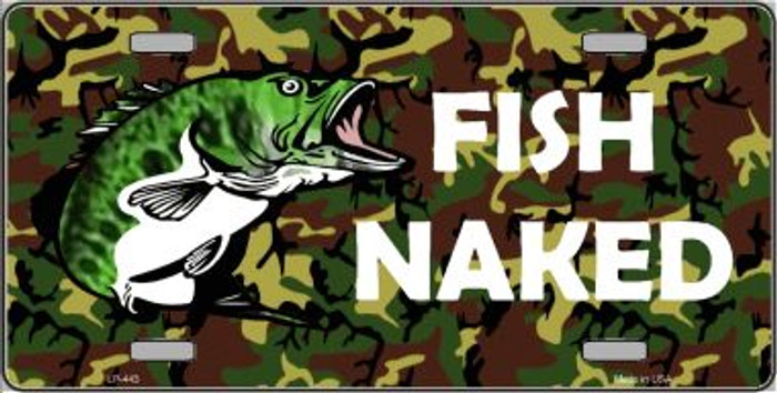 Fish Naked Wholesale Metal Novelty License Plate