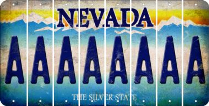 Nevada A Cut License Plate Strips (Set of 8) LPS-NV1-001