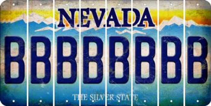 Nevada B Cut License Plate Strips (Set of 8) LPS-NV1-002