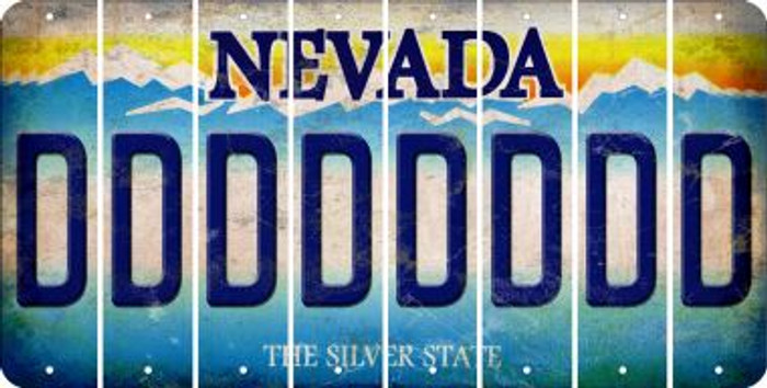 Nevada D Cut License Plate Strips (Set of 8) LPS-NV1-004