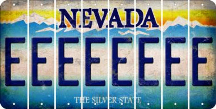 Nevada E Cut License Plate Strips (Set of 8) LPS-NV1-005