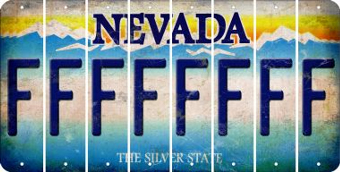 Nevada F Cut License Plate Strips (Set of 8) LPS-NV1-006