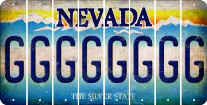 Nevada G Cut License Plate Strips (Set of 8) LPS-NV1-007