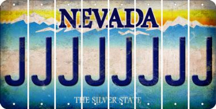 Nevada J Cut License Plate Strips (Set of 8) LPS-NV1-010