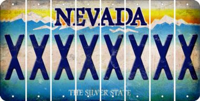 Nevada X Cut License Plate Strips (Set of 8) LPS-NV1-024