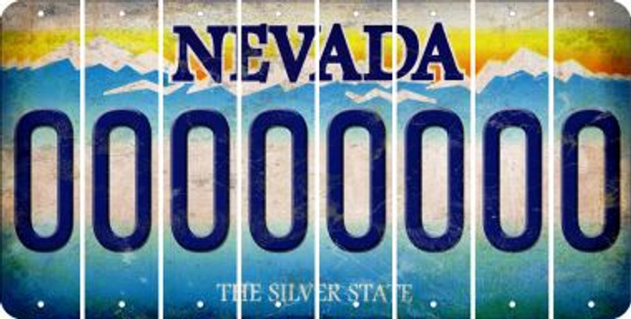 Nevada 0 Cut License Plate Strips (Set of 8) LPS-NV1-027