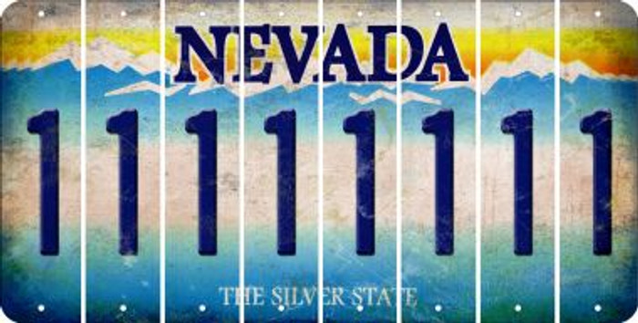 Nevada 1 Cut License Plate Strips (Set of 8) LPS-NV1-028