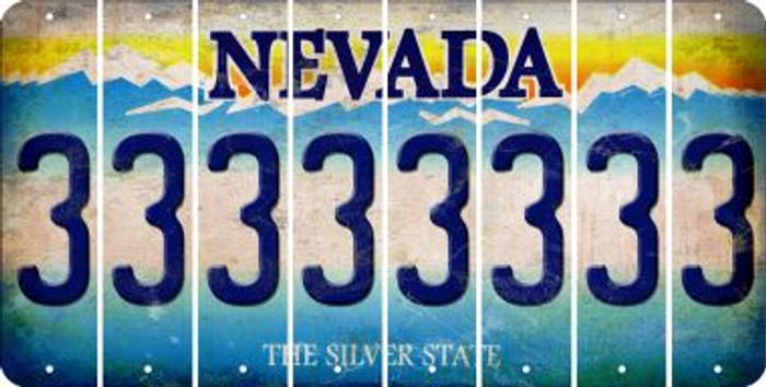 Nevada 3 Cut License Plate Strips (Set of 8) LPS-NV1-030