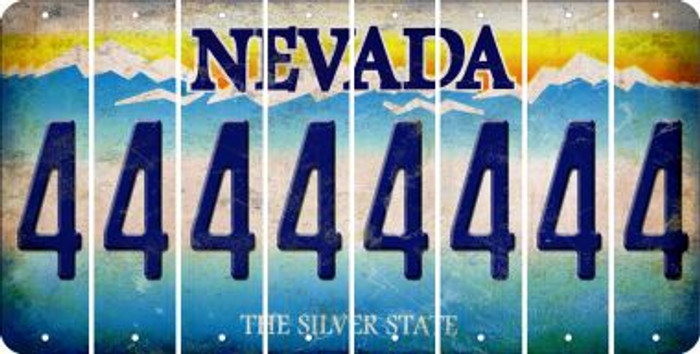 Nevada 4 Cut License Plate Strips (Set of 8) LPS-NV1-031