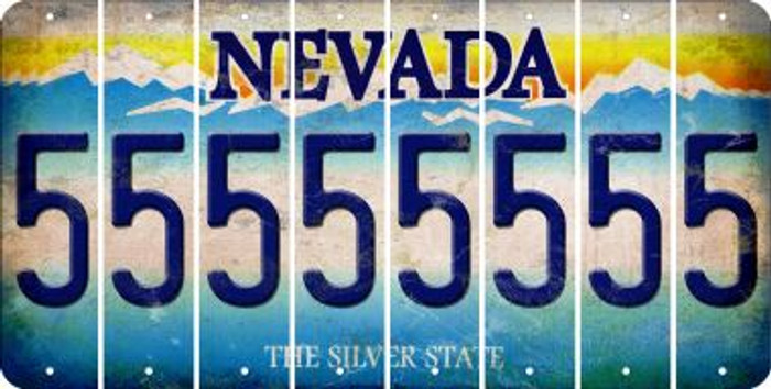 Nevada 5 Cut License Plate Strips (Set of 8) LPS-NV1-032