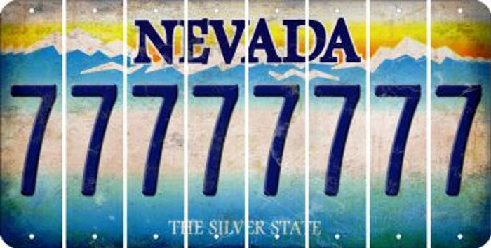 Nevada 7 Cut License Plate Strips (Set of 8) LPS-NV1-034