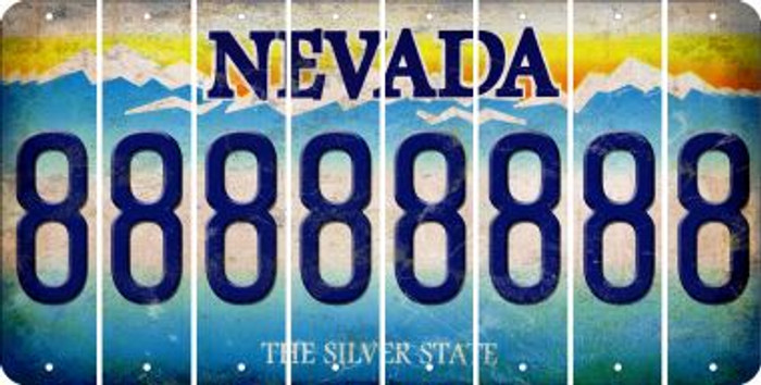 Nevada 8 Cut License Plate Strips (Set of 8) LPS-NV1-035