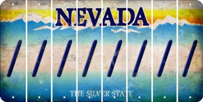 Nevada FORWARD SLASH Cut License Plate Strips (Set of 8) LPS-NV1-042