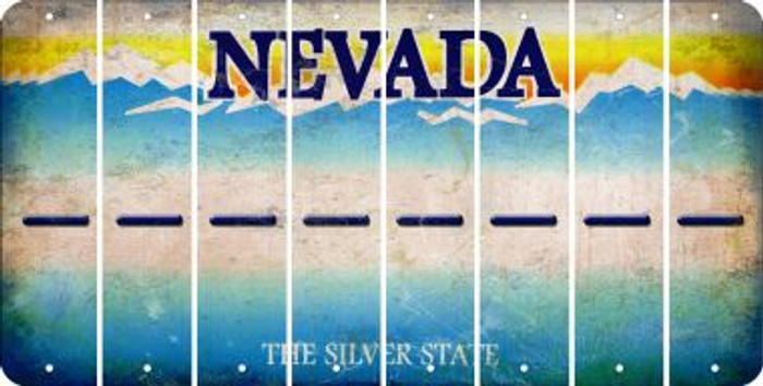 Nevada HYPHEN Cut License Plate Strips (Set of 8) LPS-NV1-044