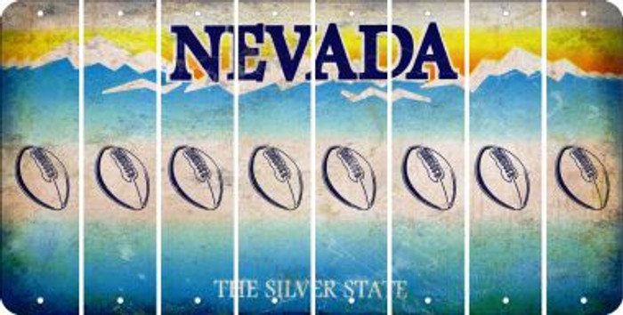 Nevada FOOTBALL Cut License Plate Strips (Set of 8) LPS-NV1-060