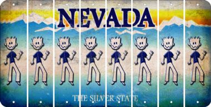 Nevada DAD Cut License Plate Strips (Set of 8) LPS-NV1-071