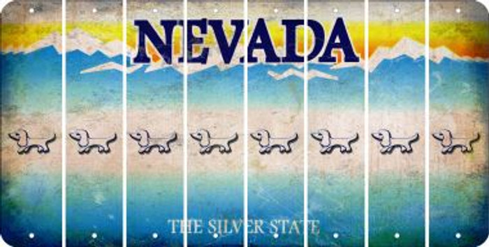Nevada DOG Cut License Plate Strips (Set of 8) LPS-NV1-073