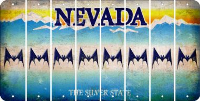 Nevada BAT Cut License Plate Strips (Set of 8) LPS-NV1-074