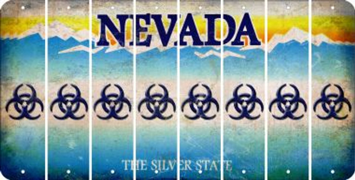 Nevada BIO HAZARD Cut License Plate Strips (Set of 8) LPS-NV1-084