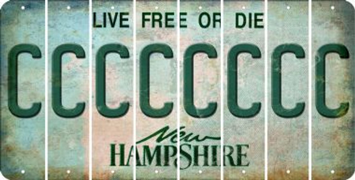 New Hampshire C Cut License Plate Strips (Set of 8) LPS-NH1-003
