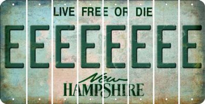 New Hampshire E Cut License Plate Strips (Set of 8) LPS-NH1-005