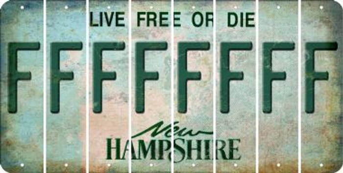 New Hampshire F Cut License Plate Strips (Set of 8) LPS-NH1-006