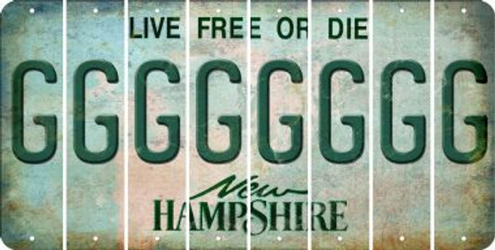 New Hampshire G Cut License Plate Strips (Set of 8) LPS-NH1-007