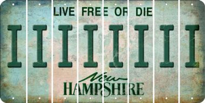 New Hampshire I Cut License Plate Strips (Set of 8) LPS-NH1-009