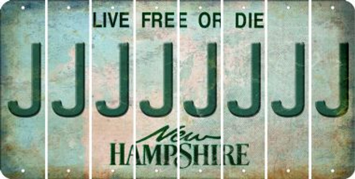 New Hampshire J Cut License Plate Strips (Set of 8) LPS-NH1-010