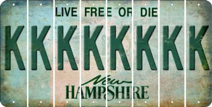 New Hampshire K Cut License Plate Strips (Set of 8) LPS-NH1-011