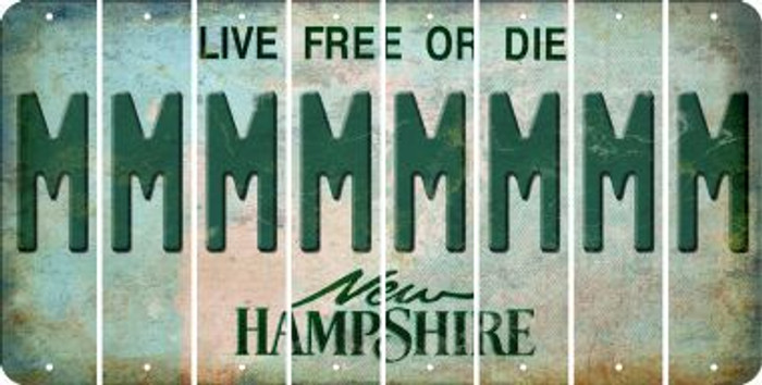 New Hampshire M Cut License Plate Strips (Set of 8) LPS-NH1-013