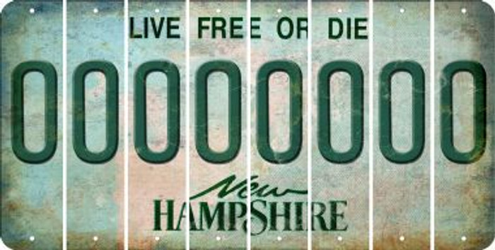 New Hampshire O Cut License Plate Strips (Set of 8) LPS-NH1-015