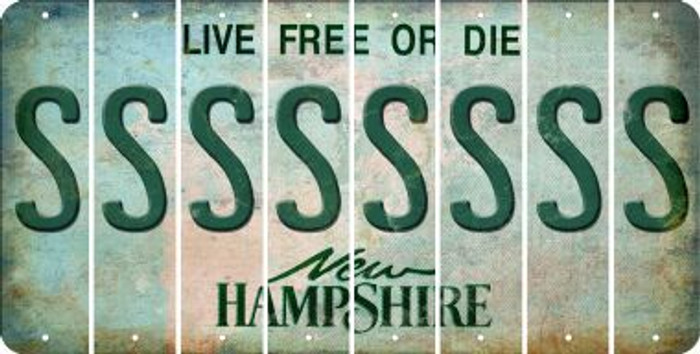 New Hampshire S Cut License Plate Strips (Set of 8) LPS-NH1-019