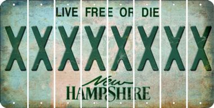 New Hampshire X Cut License Plate Strips (Set of 8) LPS-NH1-024