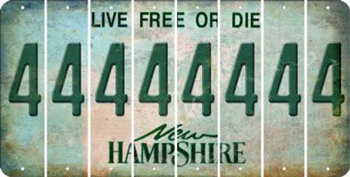 New Hampshire 4 Cut License Plate Strips (Set of 8) LPS-NH1-031
