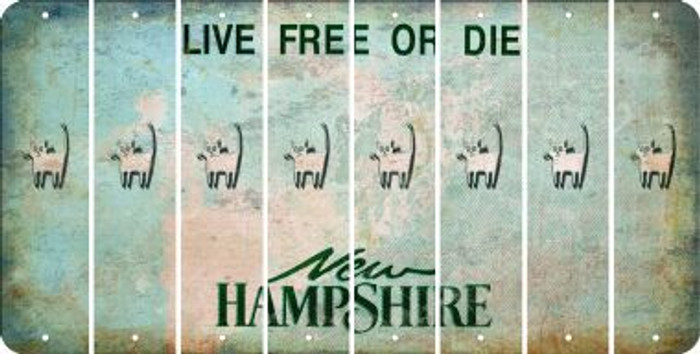 New Hampshire CAT Cut License Plate Strips (Set of 8) LPS-NH1-072